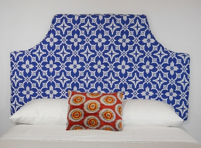blue peel and stick upholstered headboard