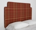 plaid peel and stick upholstered wall mounted headboard