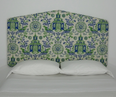 asian inspired peel and stick upholstered wall mounted headboard