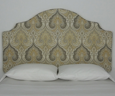 damask peel and stick upholstered wall mounted headboard